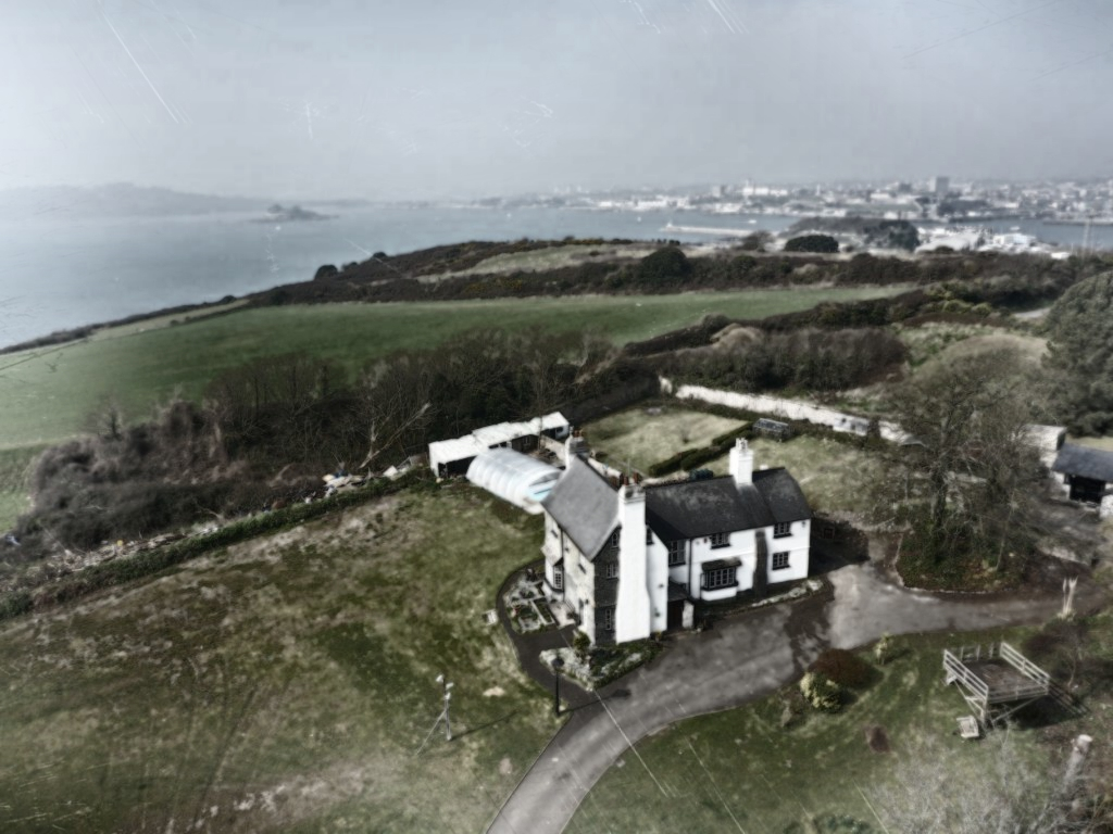 old overhead photo of St Anne's House